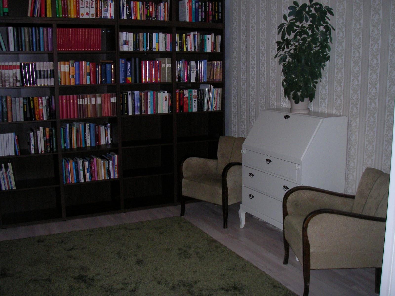 Tavleliden   vårt nya hem: biblioteket klart