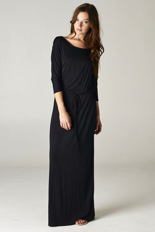 Casual Gorgeousness in Slimming Black that just lets you Breathe, whether youre lean or voluptuously curvy. Relaxed Feminine Cut with Adju... find more women fashion ideas on