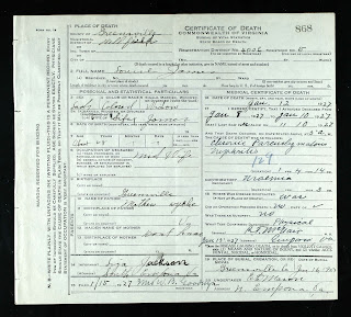 death certificate - louise mitchell james