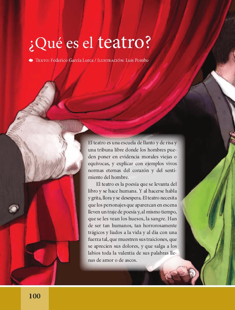 ¿Qué es el teatro? - Español Lecturas 6to 2014-2015