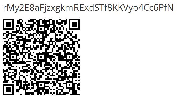 Copia la dirección o scanera el código QR