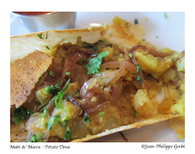 Image of Potato dosa at Matt and Meera Indian restaurant in Hoboken, NJ New Jersey