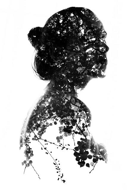 Двойные экспозиции в черно-белом цвете Анеты Ивановой