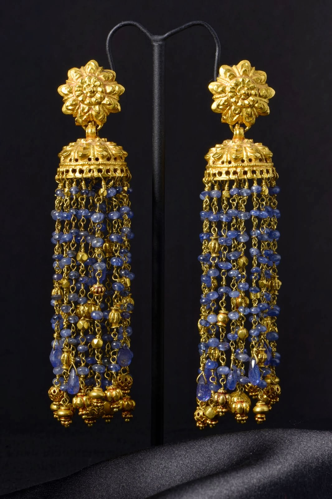 Sapphire & gold earrings