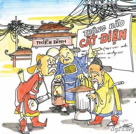 Biếm họa về Táo điện lực