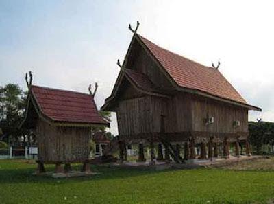 [Foto] Desain Rumah Adat Jambi