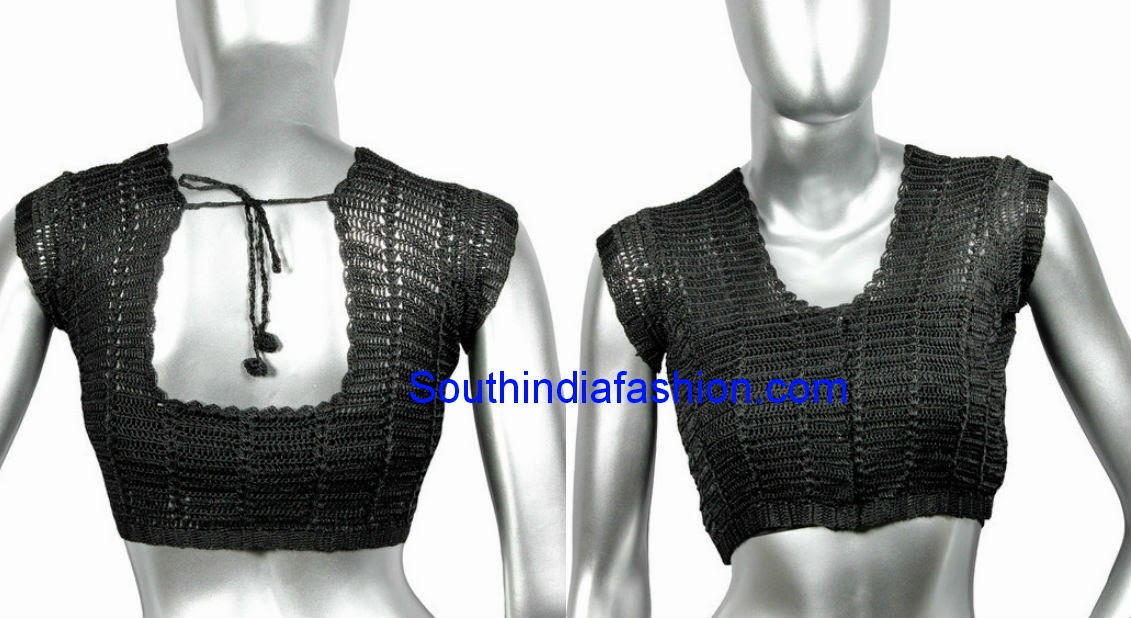 readymade crochet saree blouse