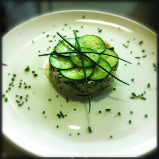 Crab salad with fresh herbs & cucumber
