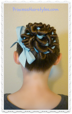 Ribbon coiled bun tutorial. Great hairstyle for ballet.