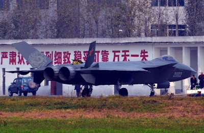 Chinese J-20 Fitted With Chinese AESA Radar