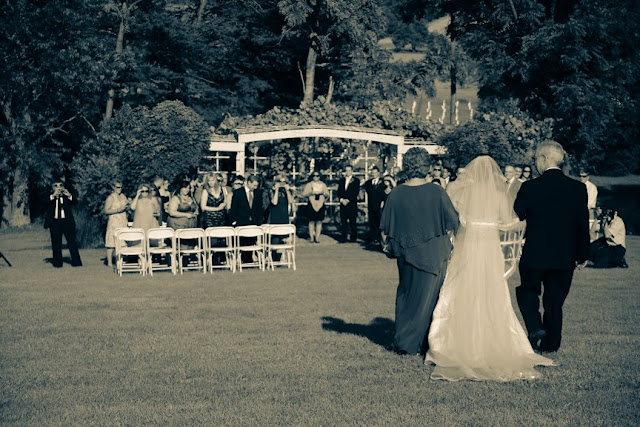 Veramar Vineyard Wedding Ceremony Vintage