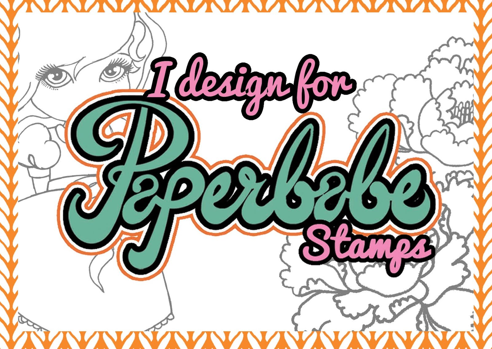 I design for Paperbabe Stamps