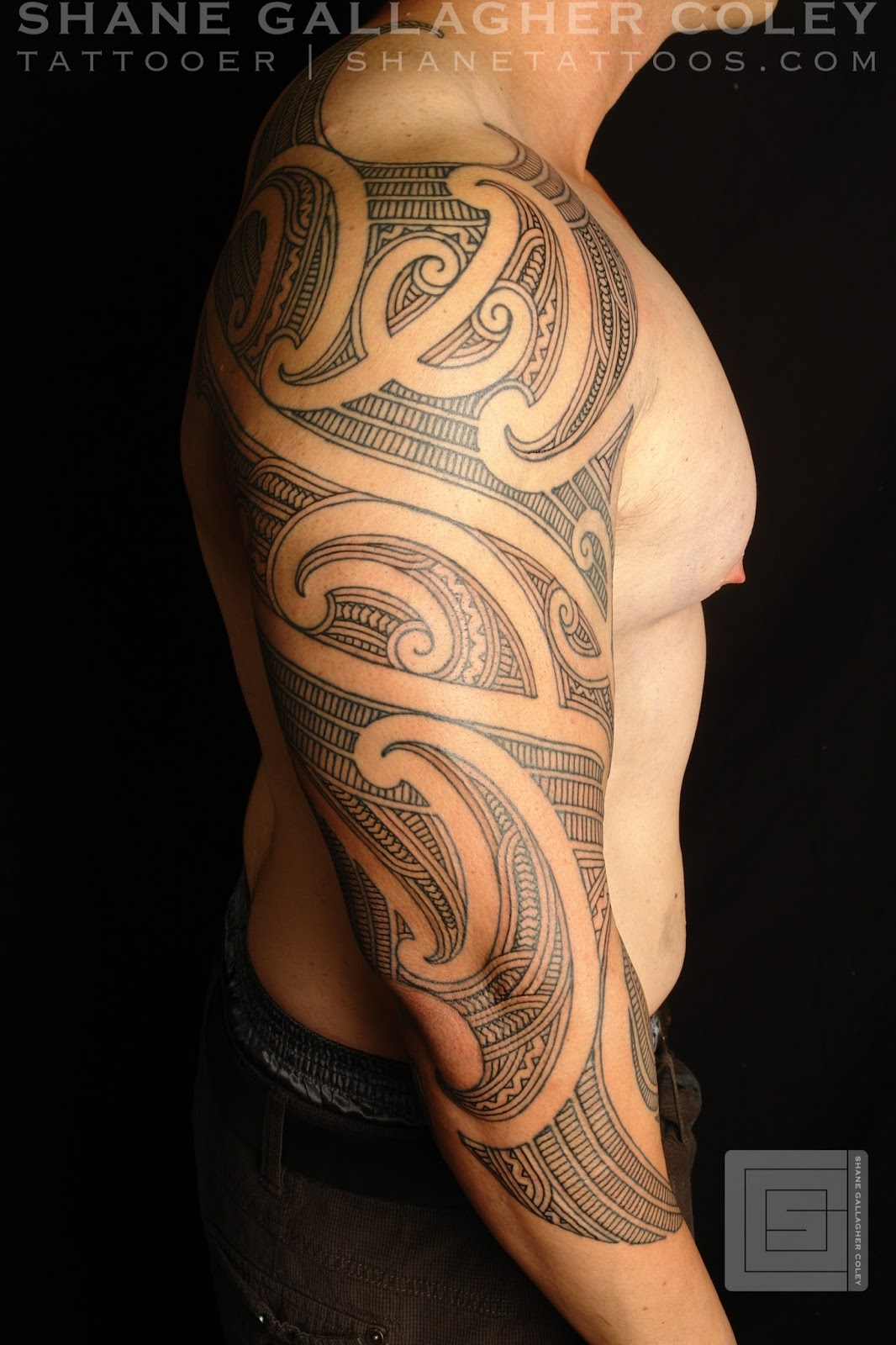 maori polynesian tattoo maori sleeve ta moko tattoo. Black Bedroom Furniture Sets. Home Design Ideas