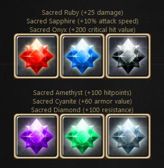 Drakensang Online sacred gemstones