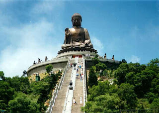 the Big Buddha, Lantau Island, Hong Kong China