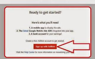 ( AdMob ) Cara mendapat Penghasilan Lewat Handphone