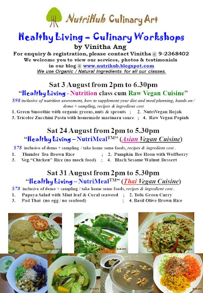 Eat Raw Feel Good @ our Nutrition cum Raw Vegan Cuisine class !