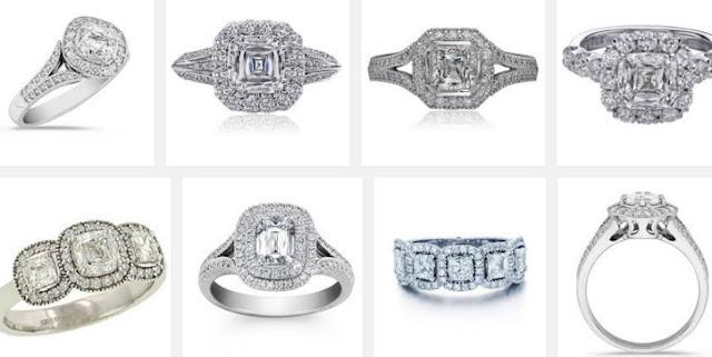 Crisscut Cushion Diamond Rings