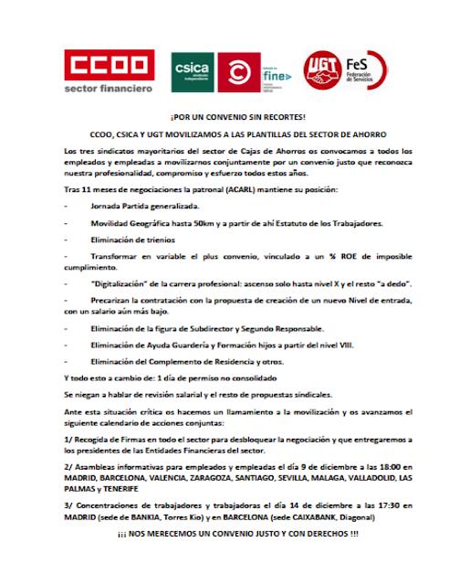 Sección Sindical de UGT Madrid en Banco Santander: 2015