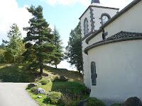 Kerk in Queuille, nabij Les Anzices in de Puy-de-Dôme