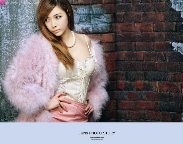 1 Jo Se Hee - Fluffy Purple-very cute asian girl-girlcute4u.blogspot.com