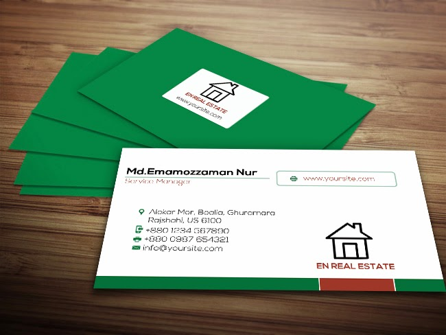 Real estate business card graphic designer this is a real estate business card template suitable for anyone working in this line of business the design is build around a green color palette reheart Gallery