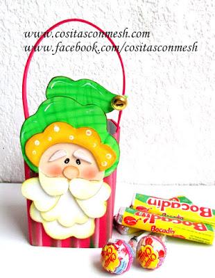 dulceros-navideños-santa-claus-reciclaje