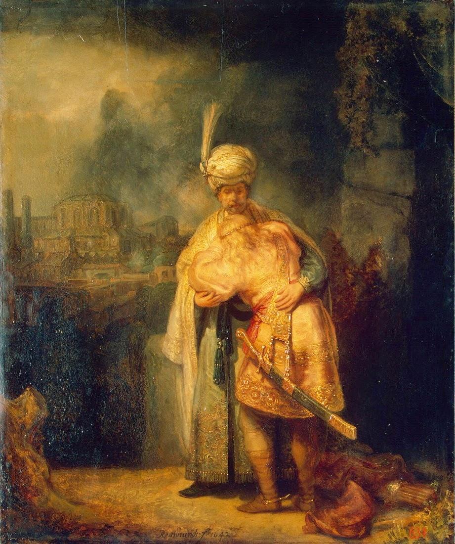 פרידת דוד ויהונתן. רמברנדט 1642 מוזיאון הרמיטג' סט פטרסבורג