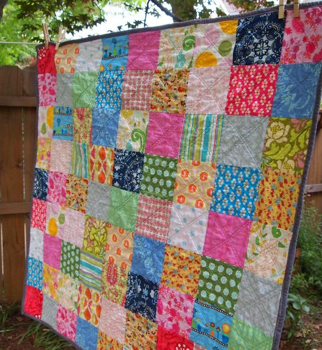 Plum and June: The First Blog Hop News and a Simple Patchwork Quilt : simple patchwork quilt - Adamdwight.com