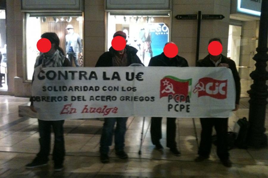 """Solidaridad con la lucha de los trabajadores griegos de la industria del acero """"Helleniki Halivourgia""""  Malaga_griegos"""