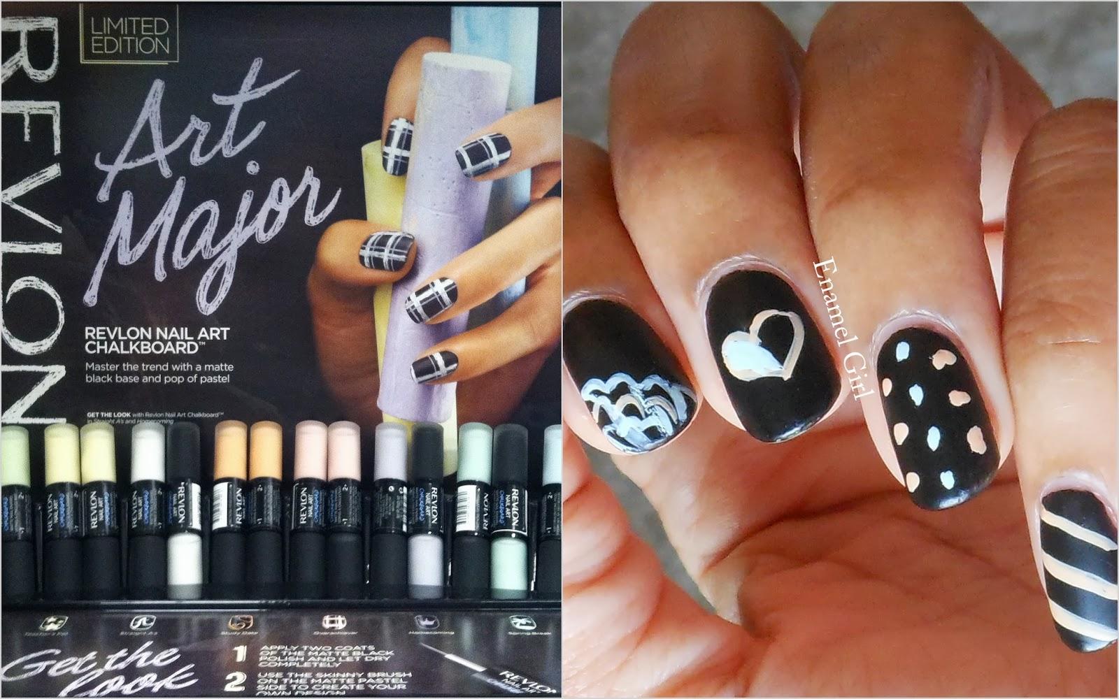 Enamel Girl Revlon Nail Art Chalkboard Polish Review And Swatches