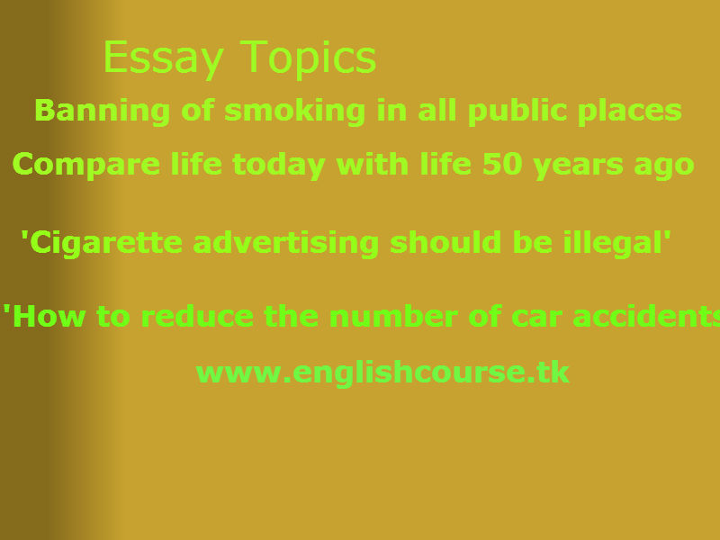 Smoking essays