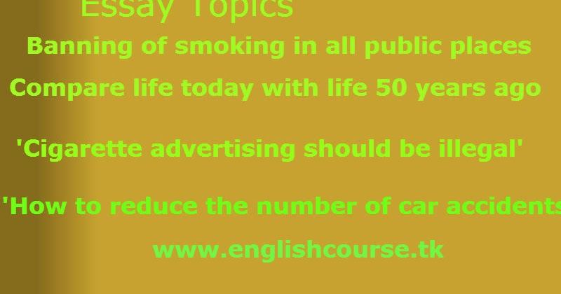 opinion essay about smoking in public places