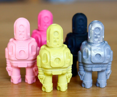 Bits n Bytes Mini Rotund Resin Robots by Cris Rose