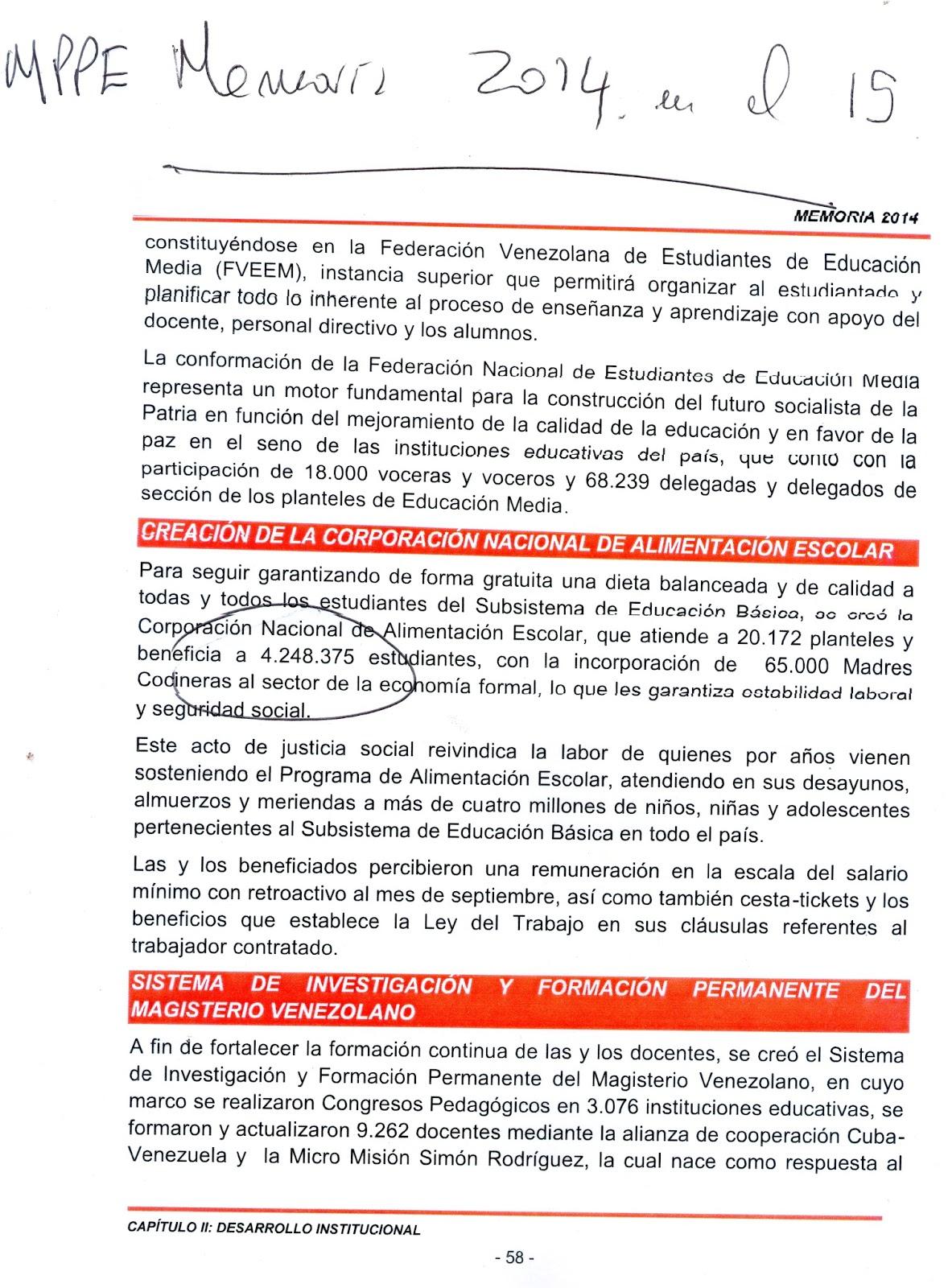 Memoria Educativa Venezolana, paso a paso: 2/08/15 - 9/08/15