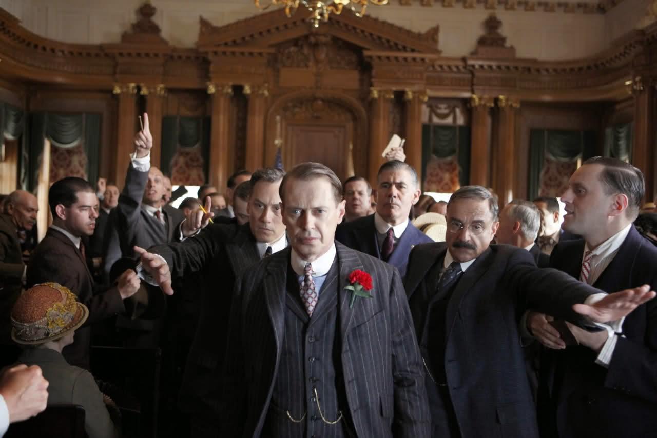 Steve Buscemi en el papel de Nucky Thompson