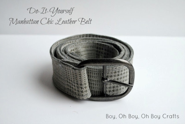 Leather Belt Tutorial