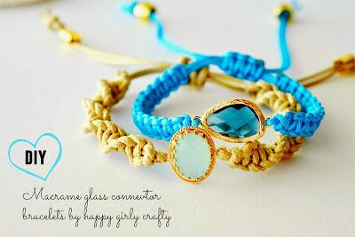 http://happygirlycrafty.blogspot.gr/2015/05/macrame-glass-connector-bracelet-diy.html