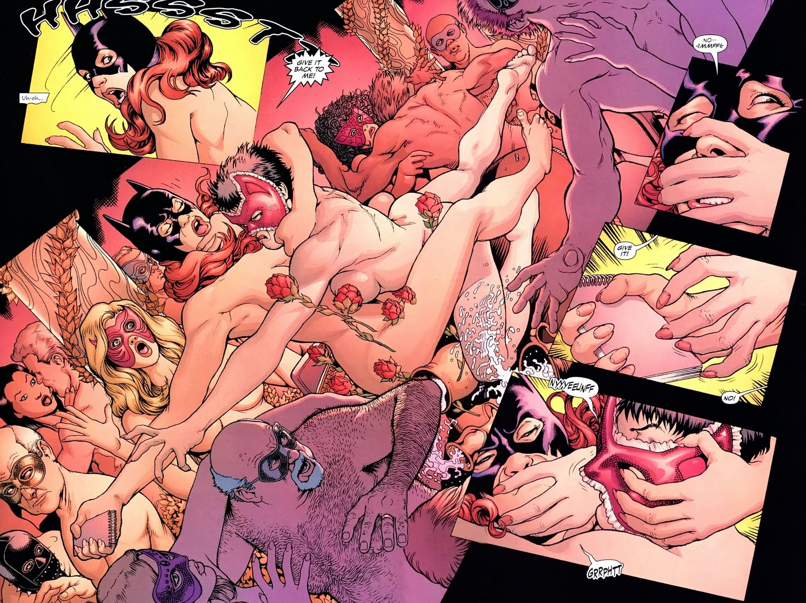 Is Apparently Really Batgirl Wrestling Catwoman In The Nude