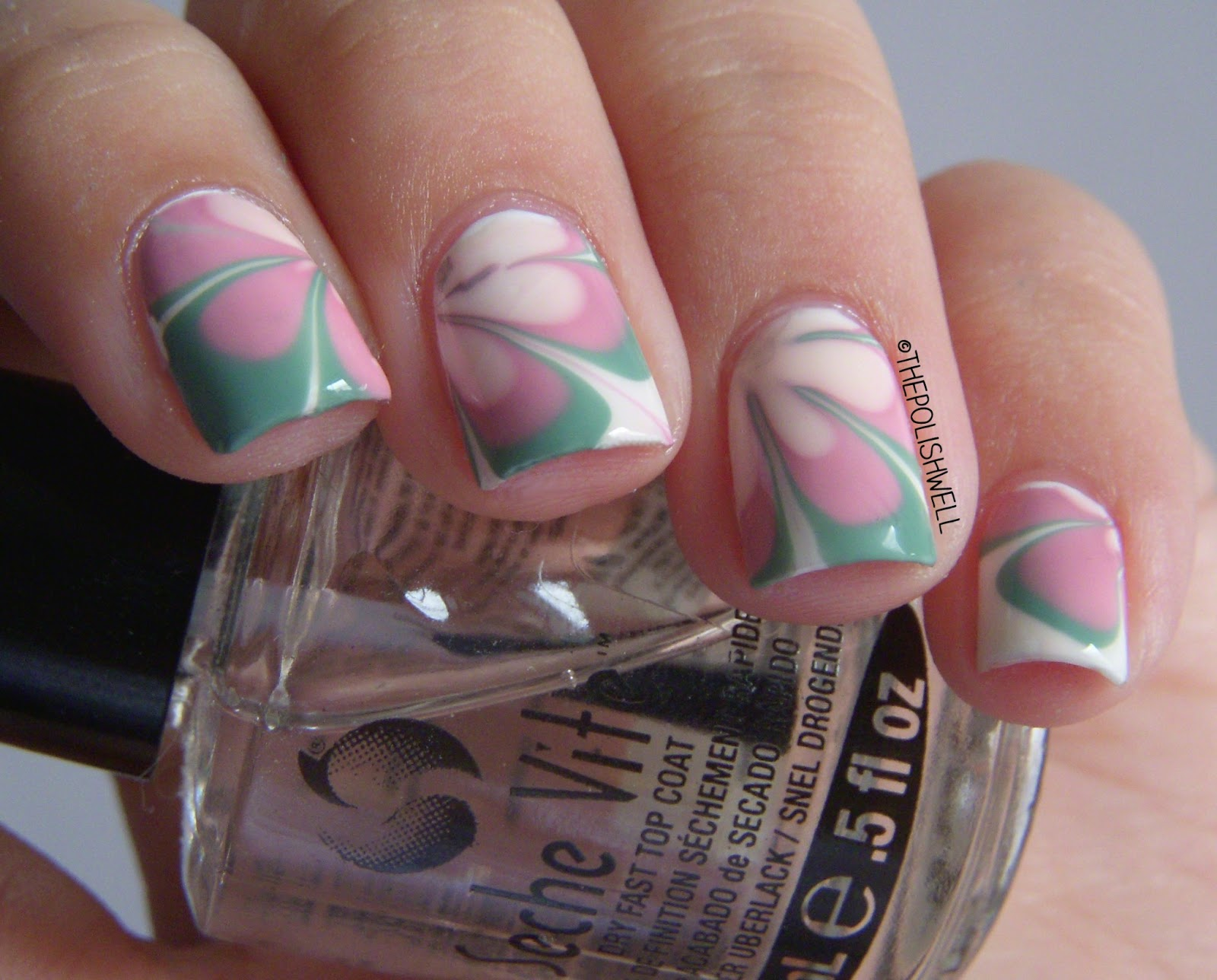 The Polish Well: Nail Ideas: Vintage / Retro Water Marble