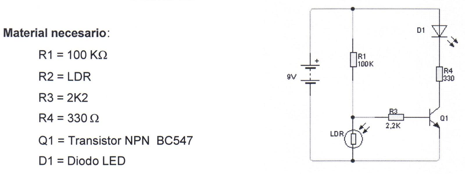 Circuito Transistor : Mi blog de tecnología: circuitos con un transistor: encendido por
