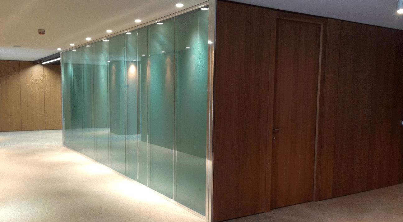 Mamparas vidrio estel ib rica madrid for Mamparas de vidrio para oficinas
