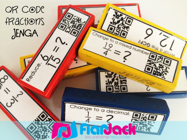 http://www.teacherspayteachers.com/Product/QR-Code-Fractions-Jenga-FREE-620819