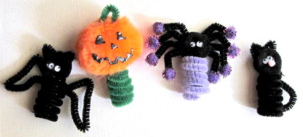 Pipe Cleaner Projects Pipe Cleaner Halloween Finger