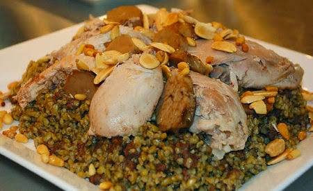 Freekeh with chicken recipe