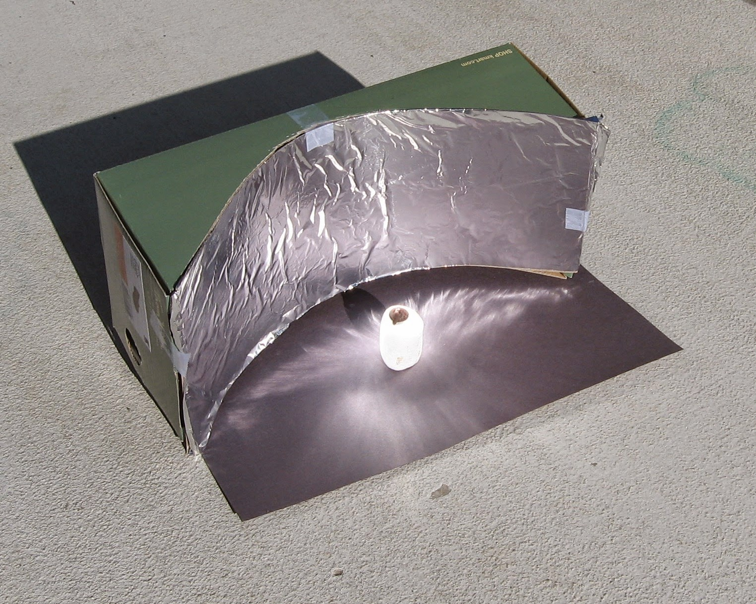 Almost unschoolers parabolic solar shoebox cooker math for How to build a solar oven for kids