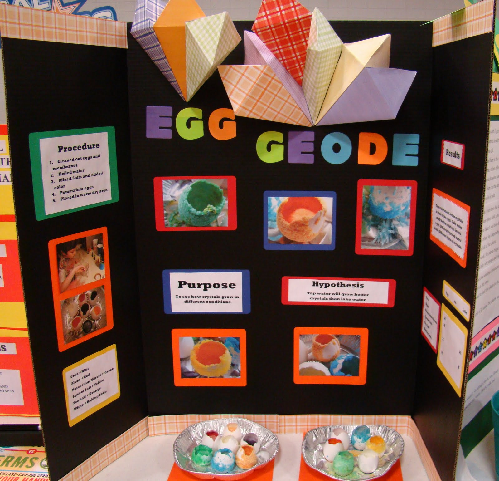 Egg Geodes Science Fair Project