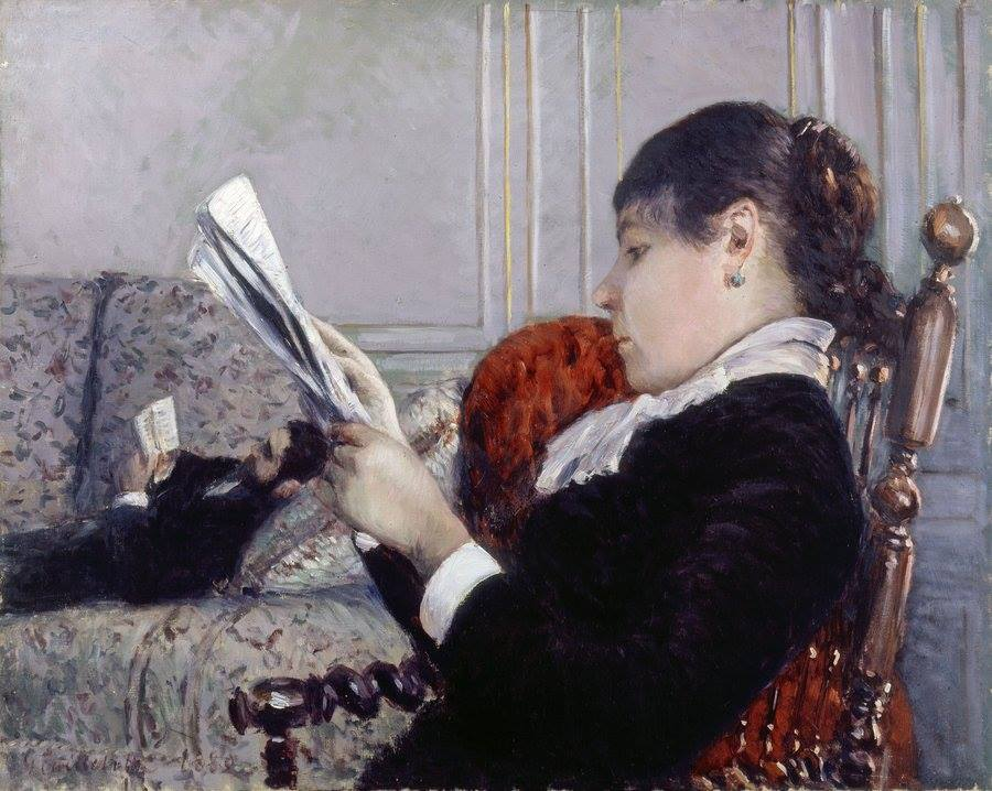 Gustave Caillebotte, Interior, A Woman Reading, 1880