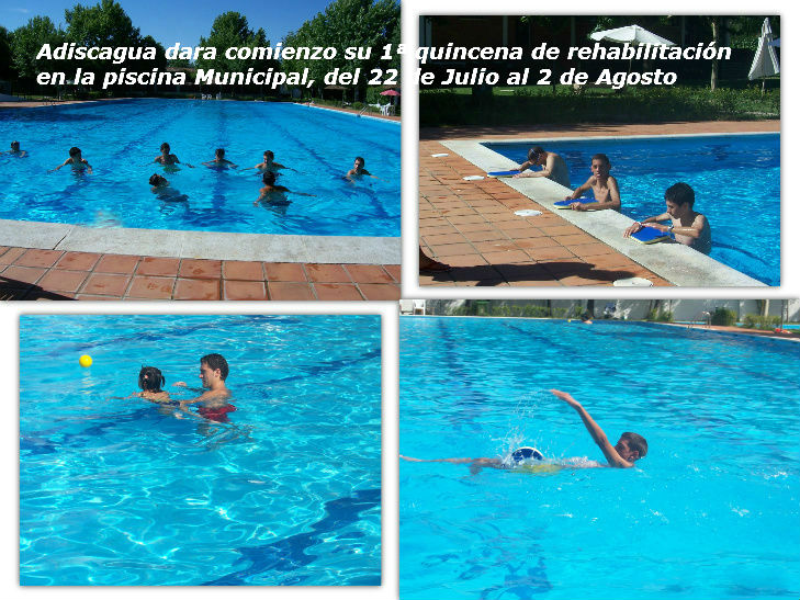 Adiscagua adiscagua dara comienzo su 1 quincena de for Rehabilitacion en piscina