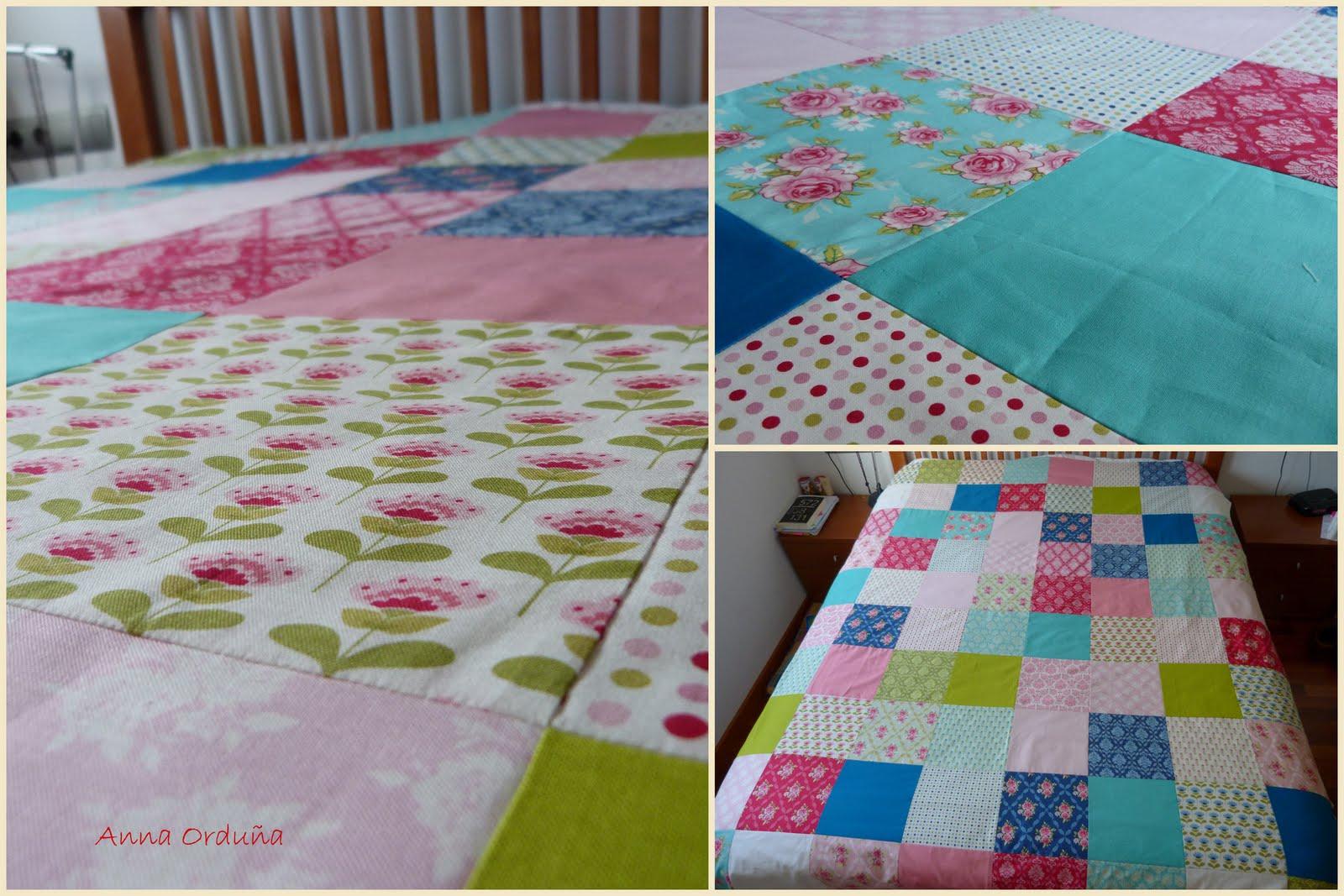 Anna ordu a mi rinc n de patchwork colcha tilda - Hacer una colcha de patchwork ...